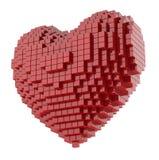 Coeur des cubes Photographie stock