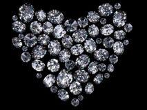 Coeur des diamants Photos libres de droits
