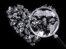 Coeur des diamants Photographie stock libre de droits