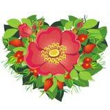 Coeur des fleurs Photographie stock