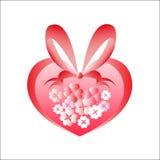 Coeur des fleurs images libres de droits