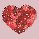 Coeur des fleurs Photographie stock libre de droits
