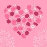 Coeur des fleurs Illustration de vecteur Fond Images libres de droits