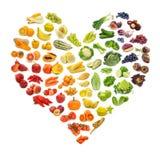 Coeur des fruits et légumes Photographie stock libre de droits