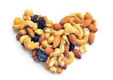 Coeur des fruits secs photographie stock libre de droits
