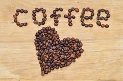 Coeur des graines de café Image libre de droits