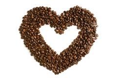 Coeur des grains de café Photo stock