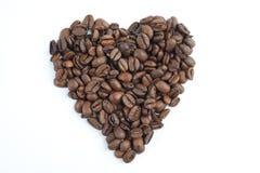 Coeur des grains de café Photos stock