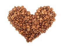 Coeur des grains de café Image stock