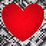 Coeur des grands dos illustration de vecteur