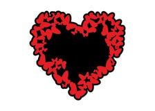Coeur des guindineaux illustration de vecteur