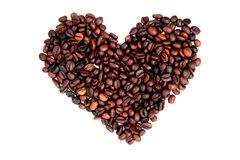 Coeur des haricots de coffe Image stock