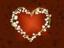 Coeur des lillies Photographie stock libre de droits