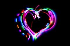 Coeur des lumières de couleur Images stock