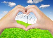 Coeur des mains Image libre de droits