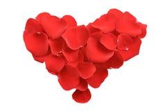 Coeur des pétales roses Photographie stock libre de droits