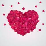 Coeur des pétales roses rouges ENV 10 Photographie stock