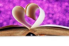 Coeur des pages de livre Photo libre de droits