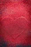 coeur des paillettes le jour noir de valentines de fond Photos stock