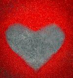 coeur des paillettes le jour noir de valentines de fond Photographie stock libre de droits