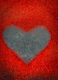 coeur des paillettes le jour noir de valentines de fond Photo libre de droits