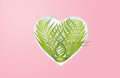 Coeur des palmettes - concept environnemental Photo stock