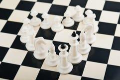 Coeur des pièces d'échecs Photo libre de droits