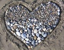 Coeur des pierres Photos stock