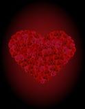 Coeur des roses illustration de vecteur