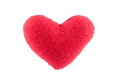 Coeur des roses rouges d'oreiller d'isolement Photo libre de droits