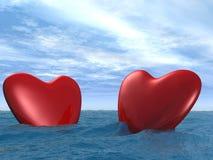 Coeur deux photographie stock libre de droits