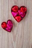 Coeur deux avec des sucreries Photographie stock libre de droits
