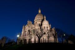 Coeur di Sacre nella notte Fotografia Stock Libera da Diritti