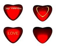 Coeur différent du type quatre. Photo stock