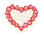 Coeur doux de fraise Image stock