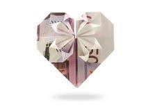 Coeur du billet de banque cinq cents Images stock