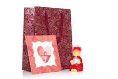Coeur du cadeau de Valentine Images libres de droits