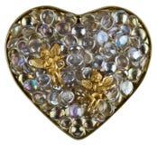 Coeur du cristal Photographie stock libre de droits