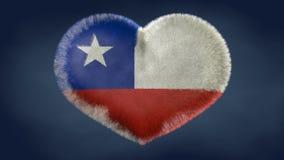 Coeur du drapeau du Chili illustration stock