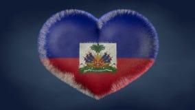 Coeur du drapeau du Haïti illustration de vecteur