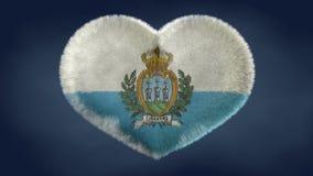 Coeur du drapeau du Saint-Marin illustration libre de droits