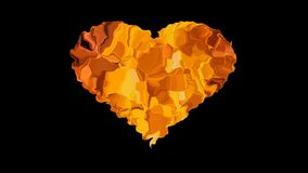 Coeur du feu illustration de vecteur