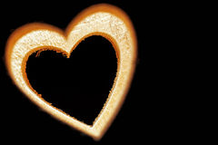 Coeur du feu image libre de droits