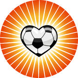 Coeur du football. Image stock