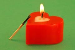 Coeur du jour de Valentine avec l'allumette Image libre de droits