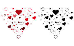 Coeur du jour de valentines deux Photographie stock