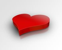 coeur du rouge 3d Photos stock