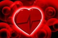 Coeur ECG Photo libre de droits