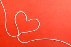 Coeur effectué à partir de la corde Images stock