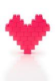 Coeur effectué à partir des briques de jouet Photographie stock